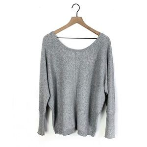 LA Made 100% Cashmere Dolman Sleeve Sweater